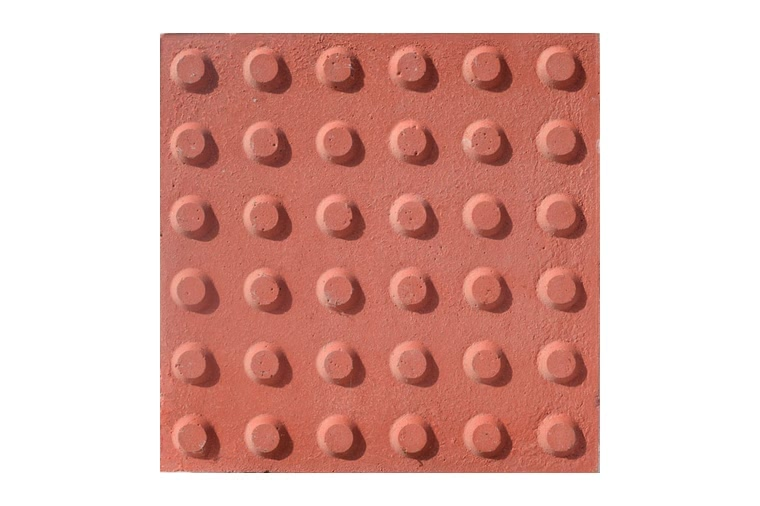 Baldosa hidraulica podotactil 30x30x3 color 16 botones ceramica campo