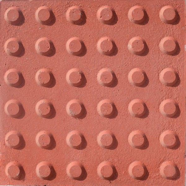 Baldosa hidraulica podotactil 30x30x3 color 16 botones