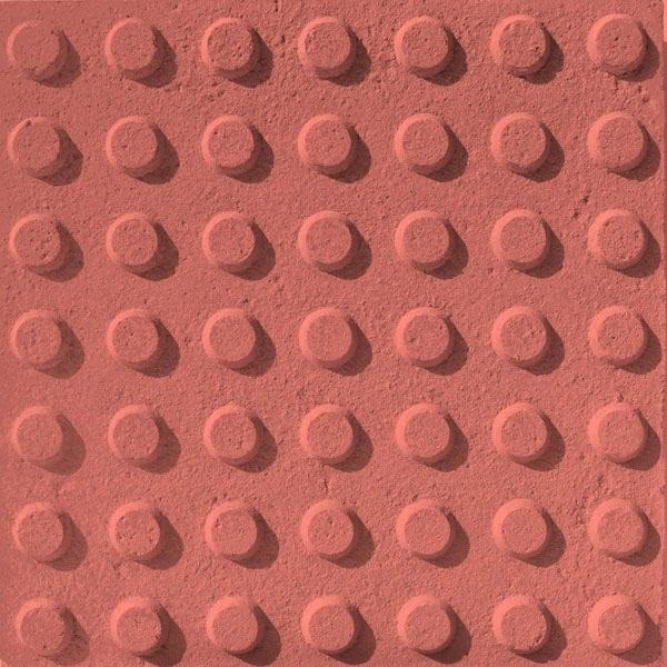 Baldosa hidraulica podotactil 30x30x3 color 49 botones