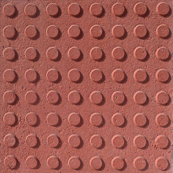 Baldosa hidraulica podotactil 40x40x3,5 color 64 botones