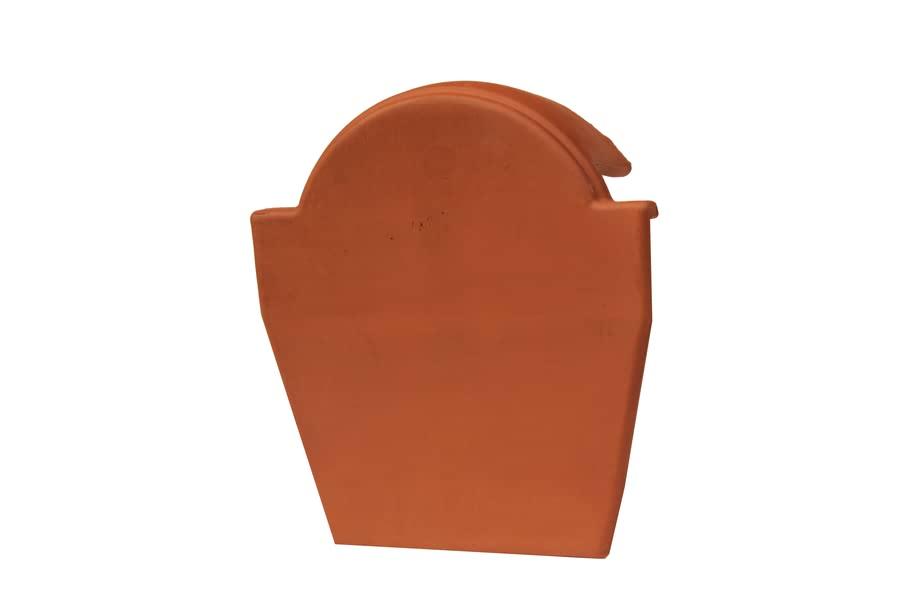 Tapon de cumbrera rojo ceramica campo