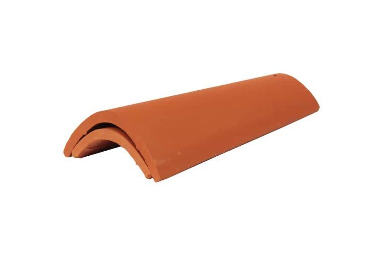 Teja de alero roja ceramica campo